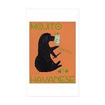 Mojito Havanese Sticker (Rectangle 50 pk)