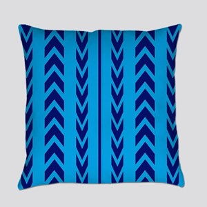 Two Toned Blue Tread Everyday Pillow