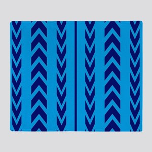 Two Toned Blue Tread Throw Blanket