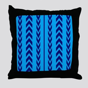 Two Toned Blue Tread Throw Pillow