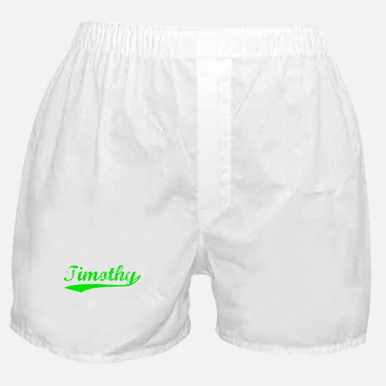 Vintage Timothy (Green) Boxer Shorts