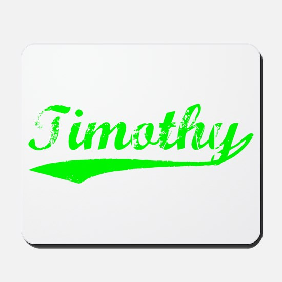 Vintage Timothy (Green) Mousepad