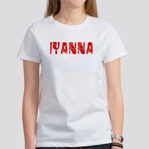 Iyanna Faded (Red) Women's T-Shirt