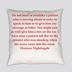 Florence Nightingale quote Everyday Pillow