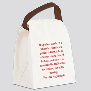 Florence Nightingale quote Canvas Lunch Bag