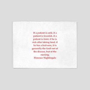 Florence Nightingale quote 5'x7'Area Rug