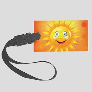 Smiley Sun Large Luggage Tag