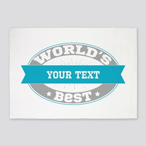 Worlds Best Personalized 5'x7'Area Rug