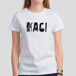 Kaci Faded (Black) Women's T-Shirt