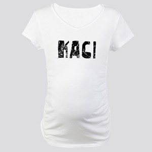 Kaci Faded (Black) Maternity T-Shirt