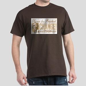 Obama Change 2008 Dark T-Shirt