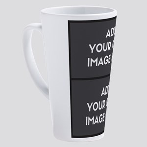 Add your own 2 images 17 oz Latte Mug
