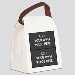 Add your own 2 images Canvas Lunch Bag