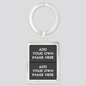 Add your own 2 images Keychains