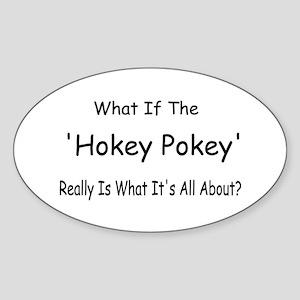 Hokey Pokey Oval Sticker