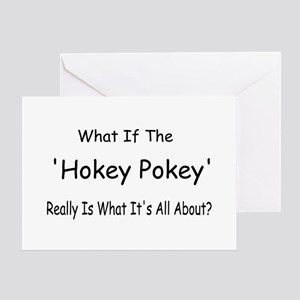 What if the hokey pokey is what its all about greeting cards cafepress hokey pokey greeting card m4hsunfo