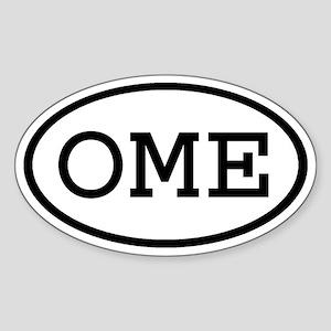 OME Oval Oval Sticker