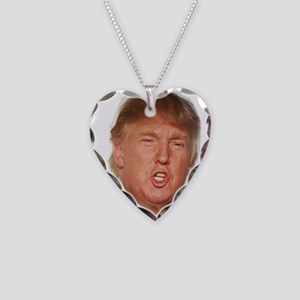 Donald Trump Necklace Heart Charm