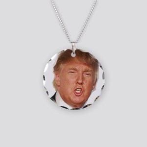 Donald Trump Necklace Circle Charm