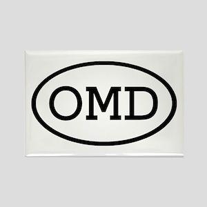 OMD Oval Rectangle Magnet