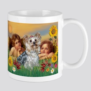 Angels with Yorkie Mug
