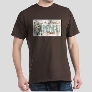 Obama Peace 2008 Dark T-Shirt