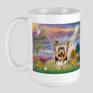 Cloud Angel & Yorkie Large Mug