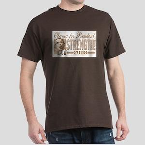 Obama Strength 2008 Dark T-Shirt