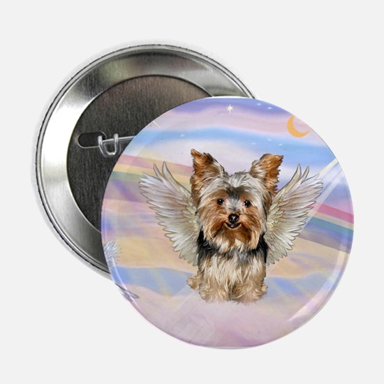 "Yorkie (#17) in Clouds 2.25"" Button"