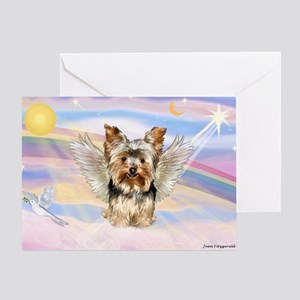 Yorkie (#17) in Clouds Greeting Card
