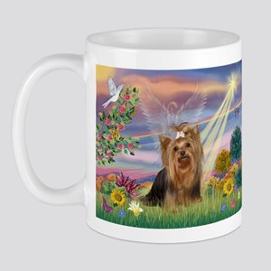 Cloud Angel & Yorkie Mug