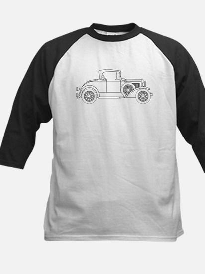 Early Motor Car Outline Baseball Jersey