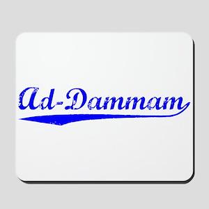 Vintage Ad-Dammam (Blue) Mousepad