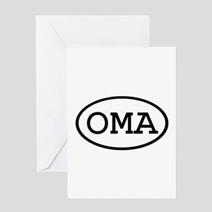 OMA Oval Greeting Card
