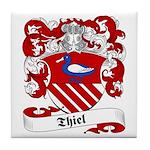 Thiel Family Crest Tile Coaster