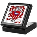 Thiel Family Crest Keepsake Box