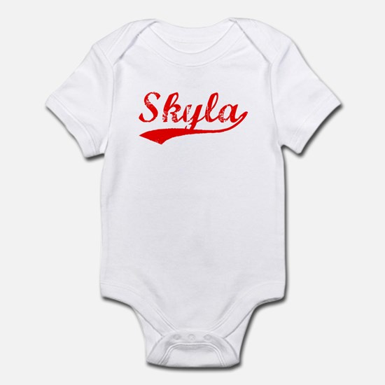 Vintage Skyla (Red) Infant Bodysuit