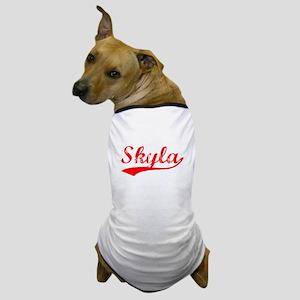 Vintage Skyla (Red) Dog T-Shirt