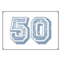 Blue 50 Yars Old Birthday Banner