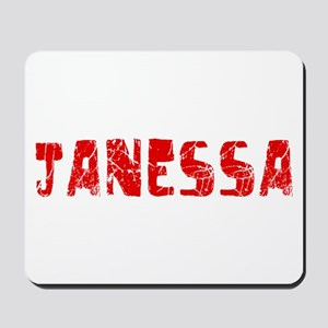 Janessa Faded (Red) Mousepad
