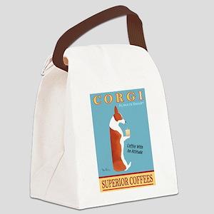 Corgi Superior Coffees Canvas Lunch Bag