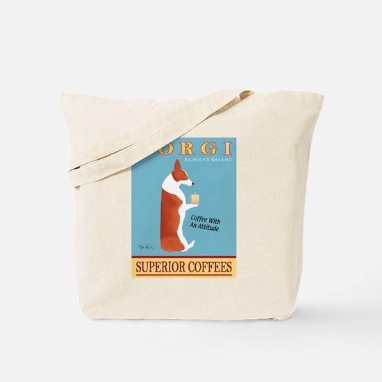 Corgi Superior Coffees Tote Bag