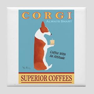 Corgi Superior Coffees Tile Coaster