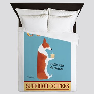 Corgi Superior Coffees Queen Duvet