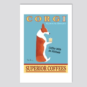 Corgi Superior Coffees Postcards (Package of 8)