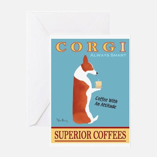 Corgi Superior Coffees Greeting Card