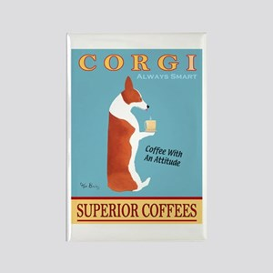 Corgi Superior Coffees Rectangle Magnet