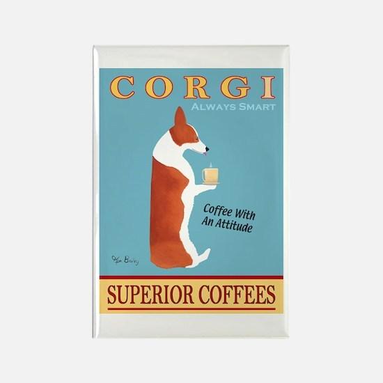 Corgi Superior Coffees Rectangle Magnet