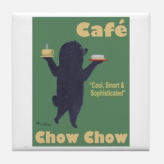 Café Chow Chow Tile Coaster