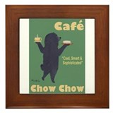 Cafe chow chow picture Framed Tiles